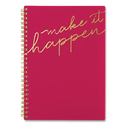 MAKE IT HAPPEN WEEKLY/MONTHLY PLANNER, 8.5 X 5.5, PINK, 2021