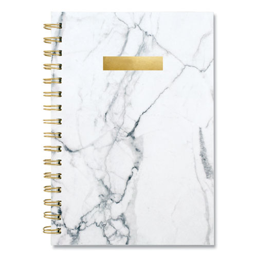 BIANCA WEEKLY/MONTHLY PLANNER, 8.5 X 5.5, GRAY MARBLED, 2021