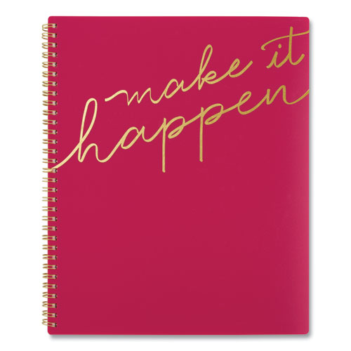MAKE IT HAPPEN WEEKLY/MONTHLY PLANNER, 11 X 8.5, PINK, 2021
