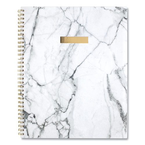 BIANCA WEEKLY/MONTHLY PLANNER, 11 X 8.5, GRAY MARBLED, 2021