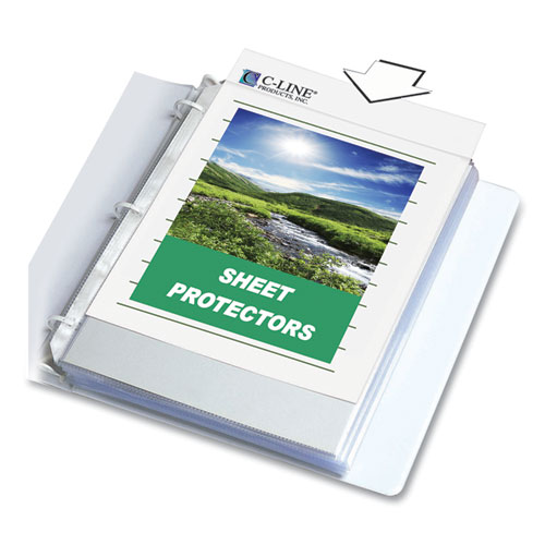 Sheet Protectors, Clear, Polypropylene, 2