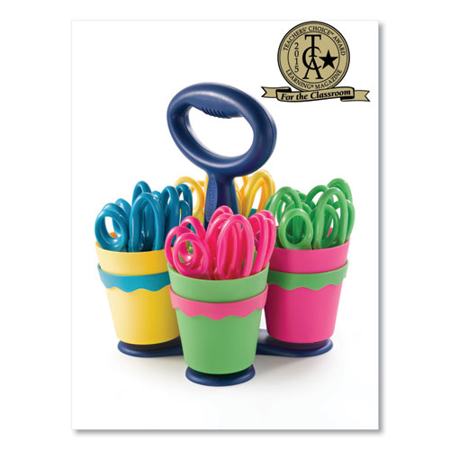 SCISSOR CADDY WITH KIDS' SCISSORS, 5
