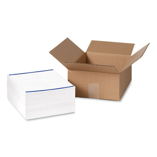 SHIPPING LABELS W/ TRUEBLOCK TECHNOLOGY, INKJET/LASER PRINTERS, 3.33 X 4, WHITE, 6/SHEET, 500 SHEETS/BOX
