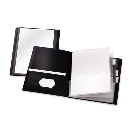 Reportpro 10-Pocket Project Organizer, Letter, Black