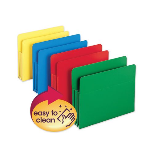 POLY DROP FRONT FILE POCKETS, 3.5