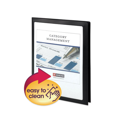 FRAME VIEW POLY TWO-POCKET FOLDER, 11 X 8.5, CLEAR/BLACK, 5/PACK