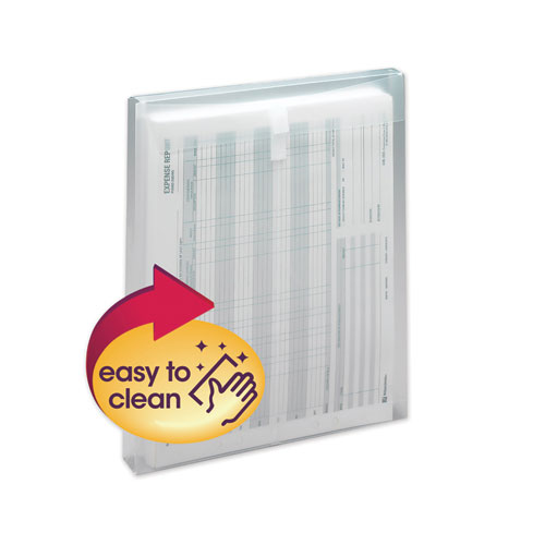 TOP-LOAD ENVELOPE, FOLD FLAP CLOSURE, 9.75 X 11.63, CLEAR, 5/PACK