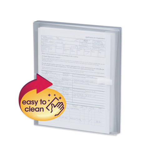 POLY SIDE-LOAD ENVELOPES, FOLD FLAP CLOSURE, 9.75 X 11.63, CLEAR, 5/PACK