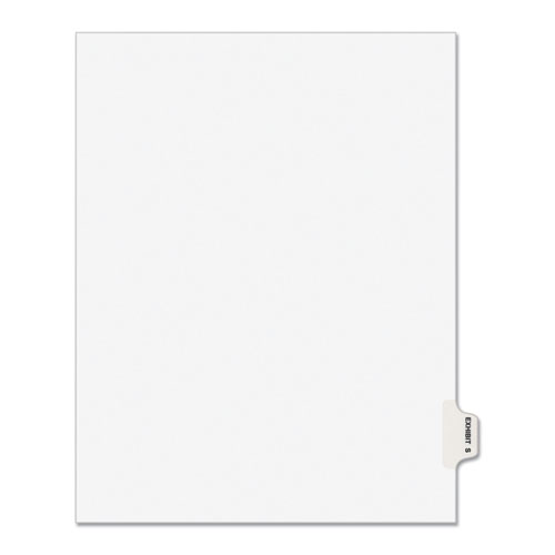 Avery-Style Preprinted Legal Side Tab Divider, Exhibit S, Letter, White, 25/pack