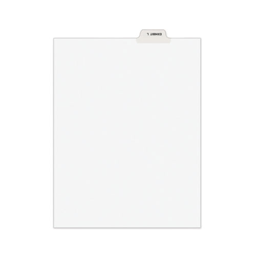 Avery-Style Preprinted Legal Bottom Tab Dividers, Exhibit L, Letter, 25/pack