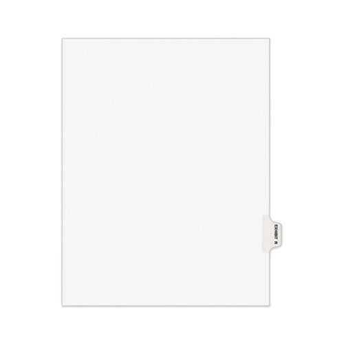 AVERY-STYLE PREPRINTED LEGAL SIDE TAB DIVIDER, EXHIBIT R, LETTER, WHITE, 25/PACK, (1388)
