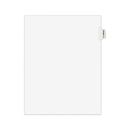 AVERY-STYLE PREPRINTED LEGAL SIDE TAB DIVIDER, EXHIBIT B, LETTER, WHITE, 25/PACK, (1372)