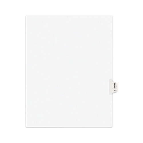 AVERY-STYLE PREPRINTED LEGAL SIDE TAB DIVIDER, EXHIBIT Q, LETTER, WHITE, 25/PACK, (1387)