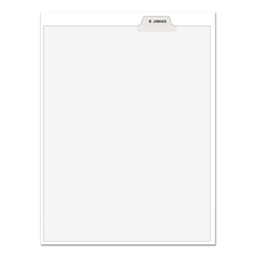 Avery-Style Preprinted Legal Bottom Tab Divider, Exhibit B, Letter, White, 25/pk