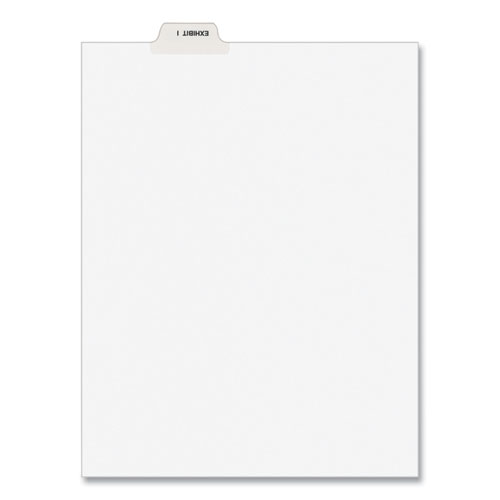 Avery-Style Preprinted Legal Bottom Tab Divider, Exhibit I, Letter, White, 25/pk