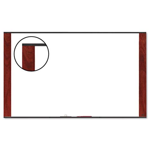 Melamine Dry Erase Board, 96 X 48, Mahogany Frame
