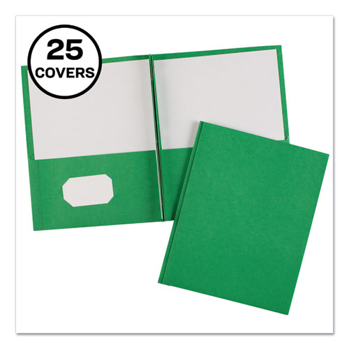 Two-Pocket Folder, Prong Fastener, Letter, 1/2