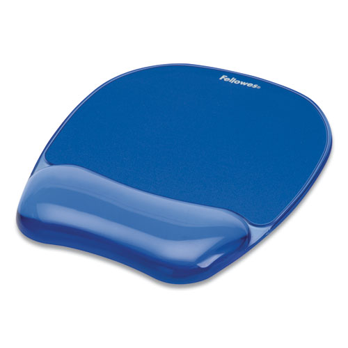 GEL CRYSTALS MOUSE PAD WITH WRIST REST, 7.87