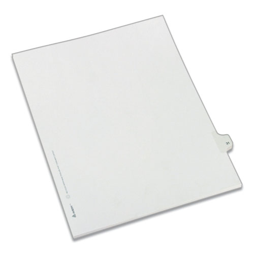 PREPRINTED LEGAL EXHIBIT SIDE TAB INDEX DIVIDERS, ALLSTATE STYLE, 10-TAB, 31, 11 X 8.5, WHITE, 25/PACK