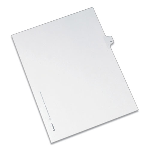 PREPRINTED LEGAL EXHIBIT SIDE TAB INDEX DIVIDERS, ALLSTATE STYLE, 26-TAB, R, 11 X 8.5, WHITE, 25/PACK