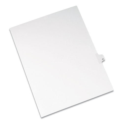 PREPRINTED LEGAL EXHIBIT SIDE TAB INDEX DIVIDERS, ALLSTATE STYLE, 10-TAB, 42, 11 X 8.5, WHITE, 25/PACK