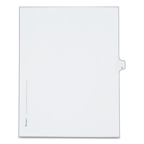 PREPRINTED LEGAL EXHIBIT SIDE TAB INDEX DIVIDERS, ALLSTATE STYLE, 26-TAB, O, 11 X 8.5, WHITE, 25/PACK