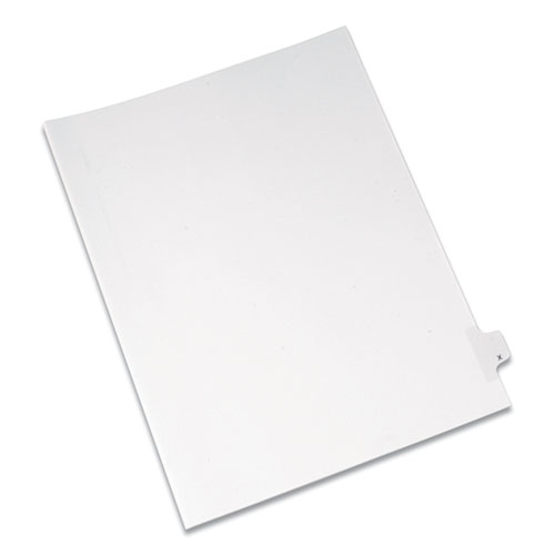PREPRINTED LEGAL EXHIBIT SIDE TAB INDEX DIVIDERS, ALLSTATE STYLE, 26-TAB, X, 11 X 8.5, WHITE, 25/PACK