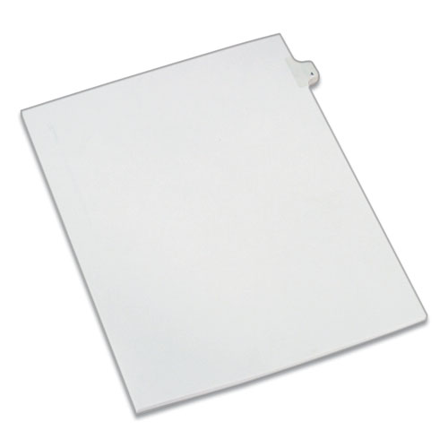PREPRINTED LEGAL EXHIBIT SIDE TAB INDEX DIVIDERS, ALLSTATE STYLE, 10-TAB, 4, 11 X 8.5, WHITE, 25/PACK