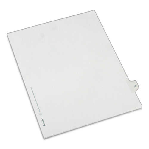 PREPRINTED LEGAL EXHIBIT SIDE TAB INDEX DIVIDERS, ALLSTATE STYLE, 10-TAB, 30, 11 X 8.5, WHITE, 25/PACK