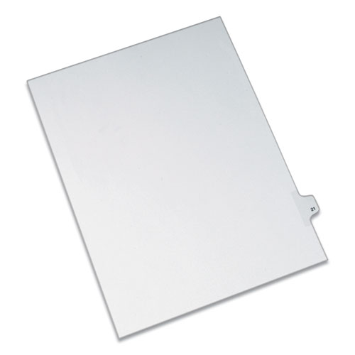 PREPRINTED LEGAL EXHIBIT SIDE TAB INDEX DIVIDERS, ALLSTATE STYLE, 10-TAB, 21, 11 X 8.5, WHITE, 25/PACK