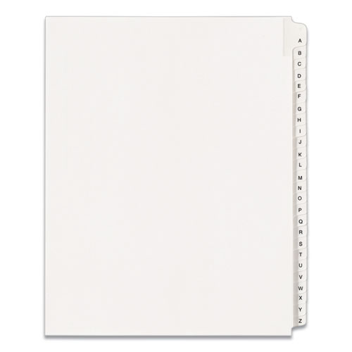 PREPRINTED LEGAL EXHIBIT SIDE TAB INDEX DIVIDERS, ALLSTATE STYLE, 26-TAB, A TO Z, 11 X 8.5, WHITE, 1 SET