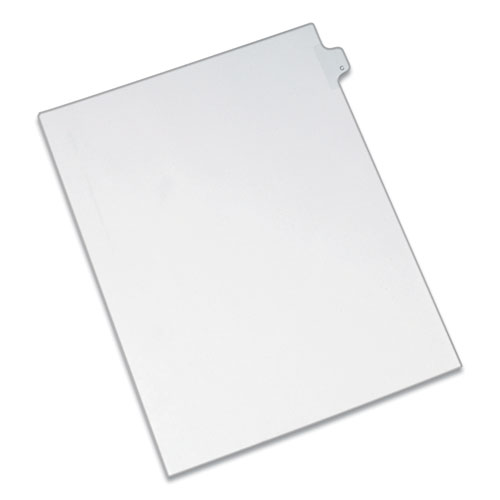 PREPRINTED LEGAL EXHIBIT SIDE TAB INDEX DIVIDERS, ALLSTATE STYLE, 26-TAB, C, 11 X 8.5, WHITE, 25/PACK