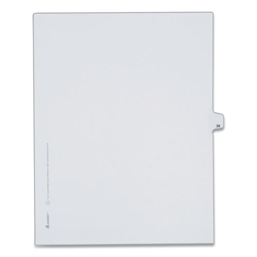 PREPRINTED LEGAL EXHIBIT SIDE TAB INDEX DIVIDERS, ALLSTATE STYLE, 10-TAB, 39, 11 X 8.5, WHITE, 25/PACK