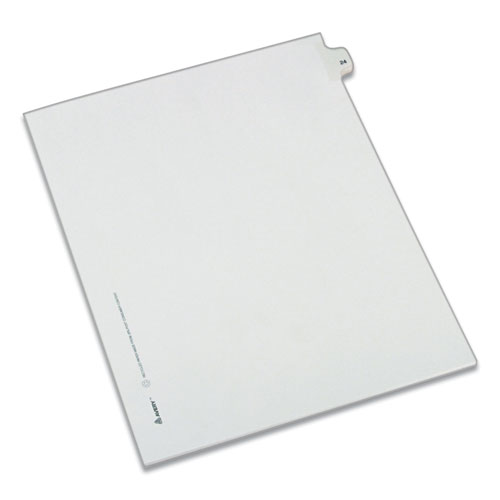 PREPRINTED LEGAL EXHIBIT SIDE TAB INDEX DIVIDERS, ALLSTATE STYLE, 10-TAB, 24, 11 X 8.5, WHITE, 25/PACK