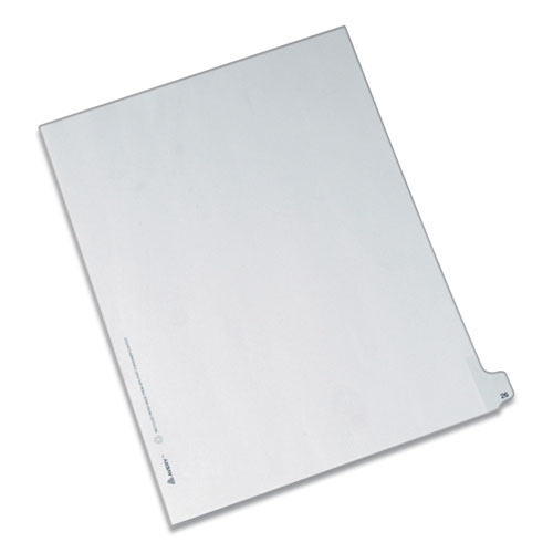 PREPRINTED LEGAL EXHIBIT SIDE TAB INDEX DIVIDERS, ALLSTATE STYLE, 10-TAB, 26, 11 X 8.5, WHITE, 25/PACK