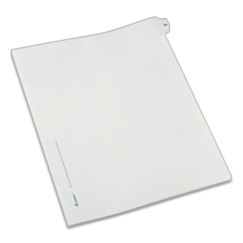 PREPRINTED LEGAL EXHIBIT SIDE TAB INDEX DIVIDERS, ALLSTATE STYLE, 10-TAB, 25, 11 X 8.5, WHITE, 25/PACK