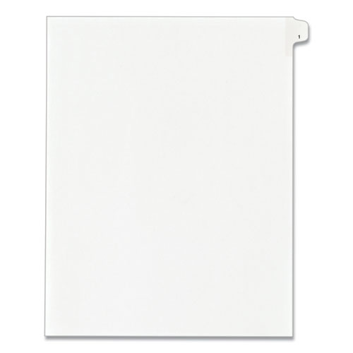 PREPRINTED LEGAL EXHIBIT SIDE TAB INDEX DIVIDERS, ALLSTATE STYLE, 10-TAB, 1, 11 X 8.5, WHITE, 25/PACK