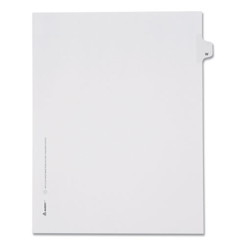 PREPRINTED LEGAL EXHIBIT SIDE TAB INDEX DIVIDERS, ALLSTATE STYLE, 26-TAB, W, 11 X 8.5, WHITE, 25/PACK