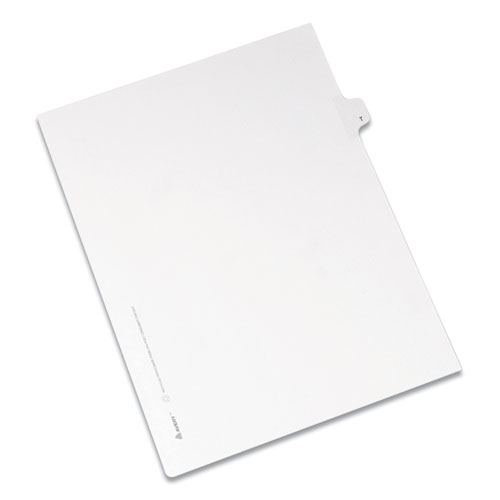 PREPRINTED LEGAL EXHIBIT SIDE TAB INDEX DIVIDERS, ALLSTATE STYLE, 26-TAB, T, 11 X 8.5, WHITE, 25/PACK