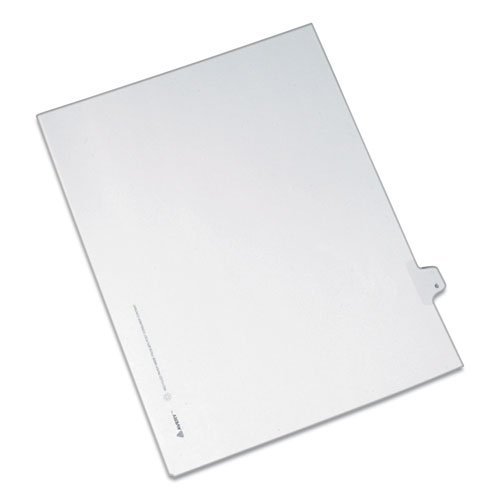 PREPRINTED LEGAL EXHIBIT SIDE TAB INDEX DIVIDERS, ALLSTATE STYLE, 10-TAB, 6, 11 X 8.5, WHITE, 25/PACK