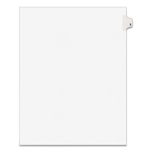 PREPRINTED LEGAL EXHIBIT SIDE TAB INDEX DIVIDERS, AVERY STYLE, 10-TAB, 2, 11 X 8.5, WHITE, 25/PACK