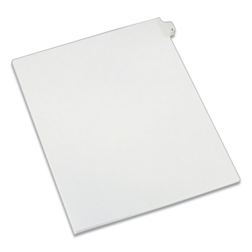 PREPRINTED LEGAL EXHIBIT SIDE TAB INDEX DIVIDERS, ALLSTATE STYLE, 10-TAB, 2, 11 X 8.5, WHITE, 25/PACK
