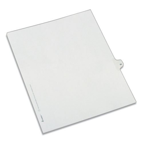 PREPRINTED LEGAL EXHIBIT SIDE TAB INDEX DIVIDERS, ALLSTATE STYLE, 10-TAB, 35, 11 X 8.5, WHITE, 25/PACK