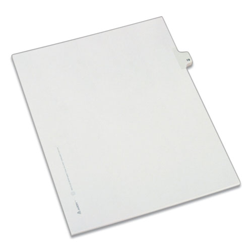 PREPRINTED LEGAL EXHIBIT SIDE TAB INDEX DIVIDERS, ALLSTATE STYLE, 10-TAB, 19, 11 X 8.5, WHITE, 25/PACK