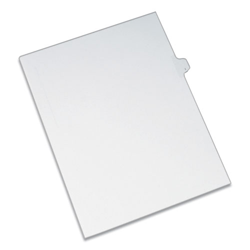 PREPRINTED LEGAL EXHIBIT SIDE TAB INDEX DIVIDERS, ALLSTATE STYLE, 26-TAB, I, 11 X 8.5, WHITE, 25/PACK