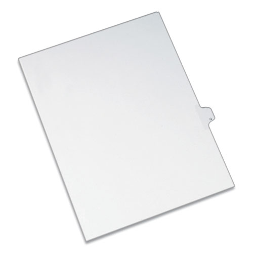 PREPRINTED LEGAL EXHIBIT SIDE TAB INDEX DIVIDERS, ALLSTATE STYLE, 26-TAB, Q, 11 X 8.5, WHITE, 25/PACK