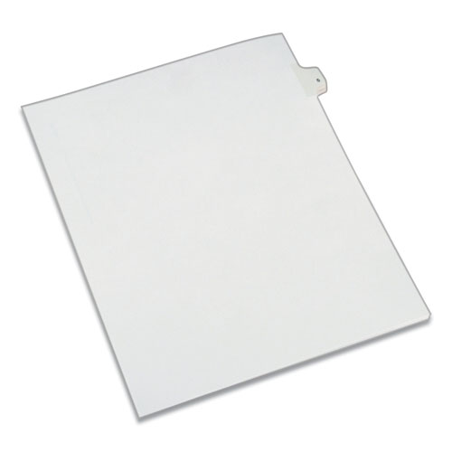 PREPRINTED LEGAL EXHIBIT SIDE TAB INDEX DIVIDERS, ALLSTATE STYLE, 10-TAB, 5, 11 X 8.5, WHITE, 25/PACK