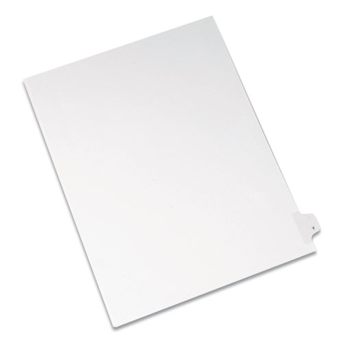 PREPRINTED LEGAL EXHIBIT SIDE TAB INDEX DIVIDERS, ALLSTATE STYLE, 26-TAB, Y, 11 X 8.5, WHITE, 25/PACK