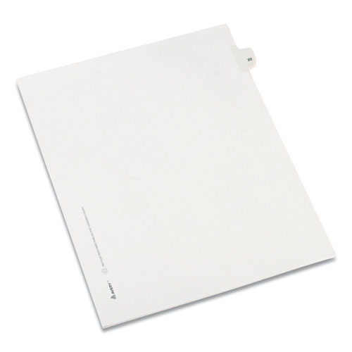 PREPRINTED LEGAL EXHIBIT SIDE TAB INDEX DIVIDERS, ALLSTATE STYLE, 10-TAB, 22, 11 X 8.5, WHITE, 25/PACK