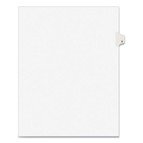 PREPRINTED LEGAL EXHIBIT SIDE TAB INDEX DIVIDERS, AVERY STYLE, 10-TAB, 6, 11 X 8.5, WHITE, 25/PACK